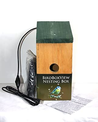 CAMERA NEST BOX (Webcam for PC/Laptop) 21' cable. Ideal gift for bird enthusiasts, fathers day, birthday, family springwatch project! by Birdboxview