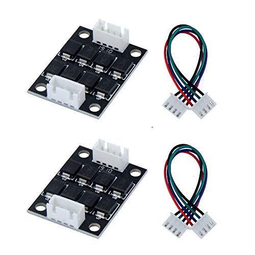 TeOhk 2Pcs TL-Smoother Addon Module Kit con Jumper Wires Accessori per Stampanti 3D Eliminazione dei Pattern Motor Clipping Controller del Driver del Filtro