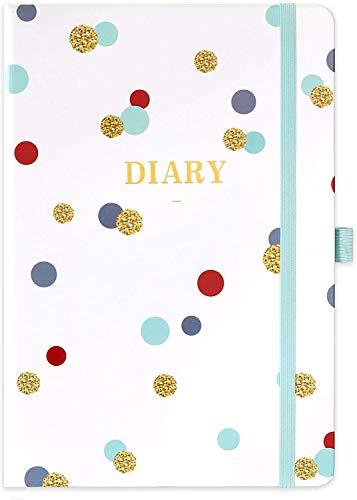 Eono by Amazon - Eono Diary 2021-2022, A5 Week to View Planner de julio de 2021 a junio de 2022 con tapa dura, bolígrafo y bolsillo trasero, 21,3 x 14,7 x 1,6 cm