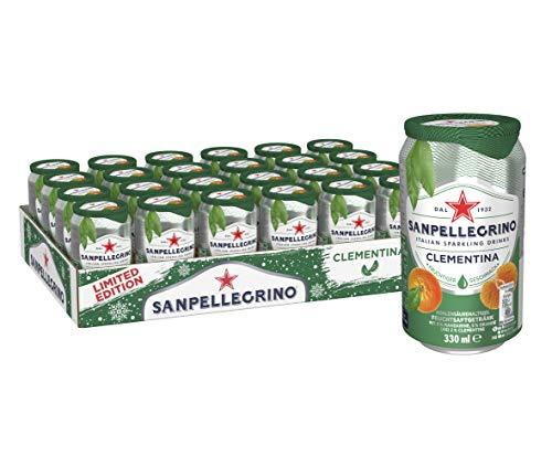 Sanpellegrino | Mandarinen Limonade | Clementina | Ideal für unterwegs | 24er Pack (24 x 0,33l) Einweg Dosen