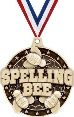 Crown Awards Gold Spelling Bee Gifts Medals Kids - Awar 3D 2