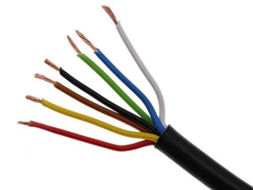 Cable de remolque de 7 polos y 1,5 mm2, cable de vehículo, cable de conducción, remolque, cable eléctrico.