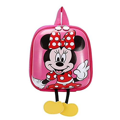 Zainetti regalo bambini asilo nido minnie zaino personalizzato zaino impermeabile molto simpatici, zaino viaggio prodotto resistente, personaggi DISNEY, vari colori regalo bambina anni 2 a 5. (rosa)