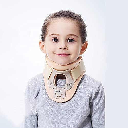 Soporte de cuello para niños Tortícolis Ortodoncia Soporte de cuello ajustable para dormir, alivia el dolor de cuello y la presión de la columna, Collar de cuello para niños para soporte de lesiones