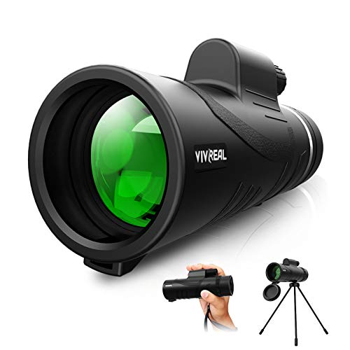 Monocular Telescope - 12X42 High Power Monocular for Bird Watching, IPX7 Waterproof HD Monocular with Tripod Made by Hyper FMC BAK4 Prism & Eco-Friendly Materials