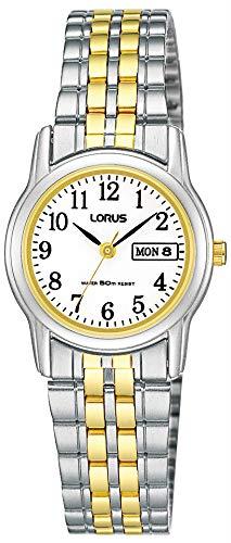Lorus Klassik Damen-Uhr mit Palladiumauflage und Metallband RXU11AX9