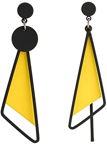 Pendientes Pendientes de triángulo irregular de viento frío exquisita moda popular clásico temperamento persona