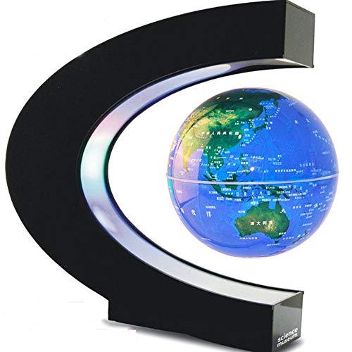 Heng Balance Lampe à LED design - Lampe fantaisie de salon | Lampe à poser décor maglev/autobiographie/Globe 'Carte du Le Monde' 10.6cm