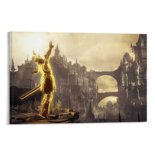 Beautiful Dark Souls 3 Screenshots Leinwand Kunst Poster und Wandkunst Bilddruck Moderne Familienzimmer Dekor Poster 12x18inch(30x45cm)