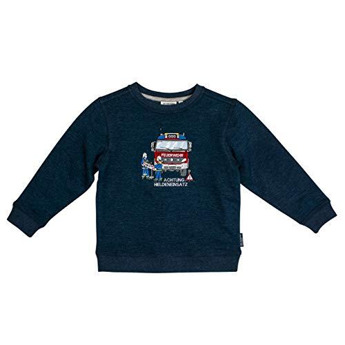SALT AND PEPPER Jungen Fire Zone Heldeneinsatz Sweatshirt, Blau (Dark Blue Melange 492), 104 (Herstellergröße: 104/110)