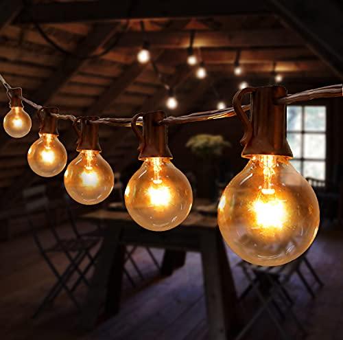 Lichterkette Außen, TOGAVE Lichterkette Glühbirnen G40 Beleuchtung 30 Birnen mit 5 Ersatzbirnen IP44 Wasserdicht Sommerabend Outdoor Lichterkette für Garten,Balkon,Terrasseund, Patio - Warmweiß