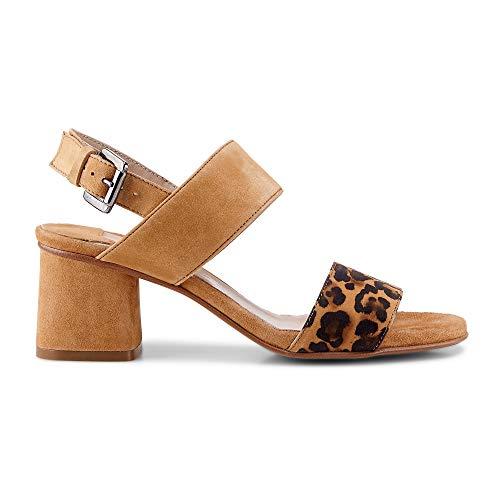 Belmondo Damen Trend-Sandalette Beige Leder 39