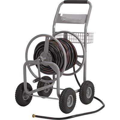 Strongway Garden Hose Reel Cart – Holds 5/8in. x 400ft. Hose