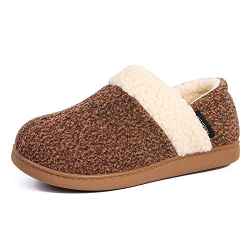 MERRIMAC Women's Hearth Fuzzy Memory Foam Closed Back Slipper