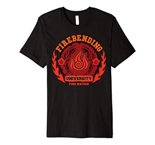 Fire bending University Logo Fire Nation Premium T-Shirt