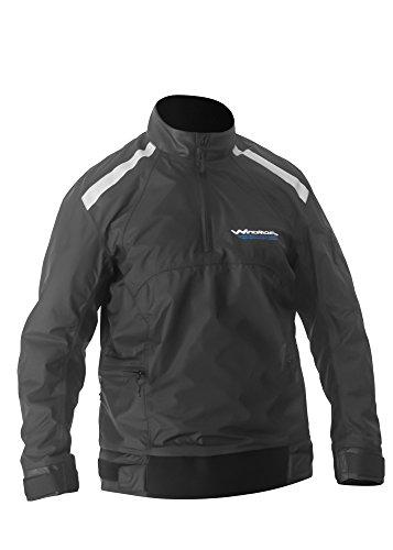 WindRider Racing Spray Top for Sailing, Paddling, Water Sports Black