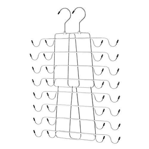 Ideal Life Tank Top Hangers Metal Folding Space Saving Hangers Closet Organizer for Tank Tops Cami Bras Bathing Suits Swimwear,Belts Ties 2pack