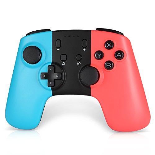 Wetoph Switch Pro sans Fil Contrôleur GD06 Wireless Bluetooth Manette pour Nintendo Switch(produit tiers) - bleu et rouge