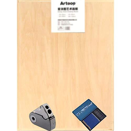 JZTOL 4k boceto Dibujo de Doble Cara Boicleto de Dibujo Art Board Board A2 Tablero de Dibujo (45 * 60 cm)