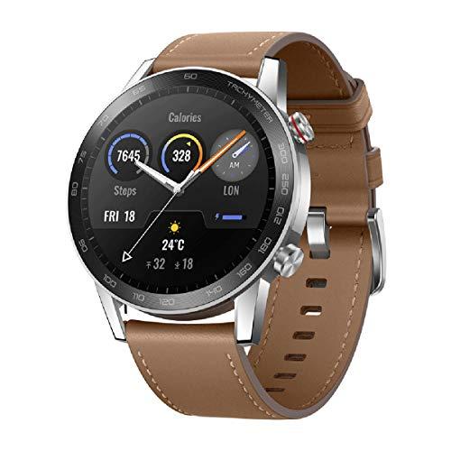 Honor Magic Watch 2 46mm/42mm Waterproof Smart Watch Bluetooth Smart Watch Activity Tracker Smartwatch for Women Men Kids (Brown, 46mm)