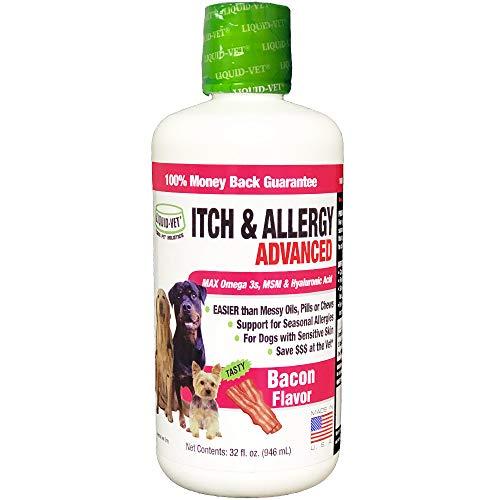 Liquid-Vet by COOL PET Holistics K9 Itch & Allergy Advanced Formula, Bacon Flavor, 32 oz