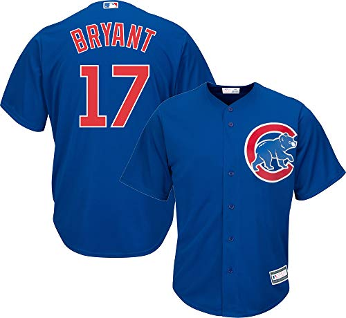 Outerstuff Kris Bryant Chicago Cubs MLB Boys Youth 8-20 Player Jersey (Blue Alternate, Youth X-Large 18-20)