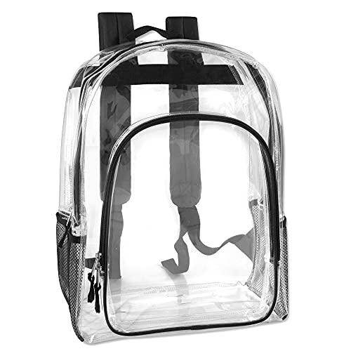 Deluxe Model Water Resistant Clear Backpacks