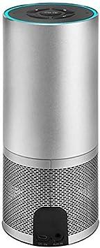 Altavoz, Altavoces Inteligentes Inalámbrico Wi-Fi Bluetooth Soporte Estéreo de 360 ° Control de Voz de Alexa Reloj Despertador y Temporizador Integrados 2 Altavoces Compatible con DLNA Airplay AUX-i