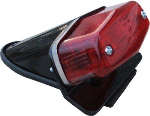 Koplampen koplampen Lucas kentekenplaatverlichting achter zwart motorfiets Custom