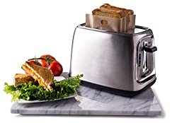 Image: Sandwich Toaster Toast Bags | No mess cooking - Non-Stick - Heat Resistant - Dishwasher Safe