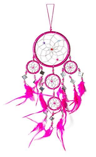 Dreamcatcher Traumfänger Dream Catcher Traum Gute Träume Kinder Deko Dreamcatchers 45cm x 11cm Spiegel Pink