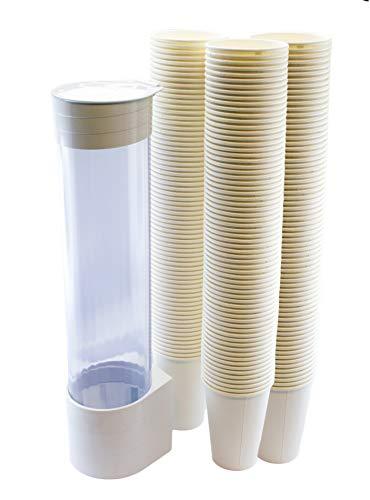 MultiCup - Dispensador de vasos con soporte para montaje en pared (plástico...