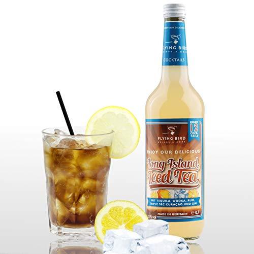 Long Island Iced Tea 32% Vol. | Premix, Fertig Mix für 12 Cocktails mit Alkohol | Flasche 0,7l mit allen Zutaten | auf Eis mit Cola servieren