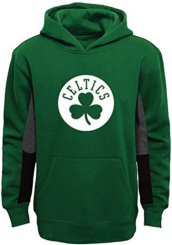 Outerstuff NBA Youth 8-20 Team Color Alternate Fleece Primary Logo Stated Pullover Sweatshirt Hoodie (Boston Celtics Green, 14-16)