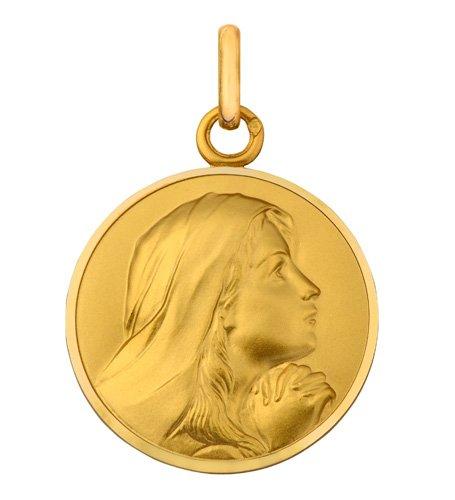 Medalla de la virgen Contemplation de bautizo