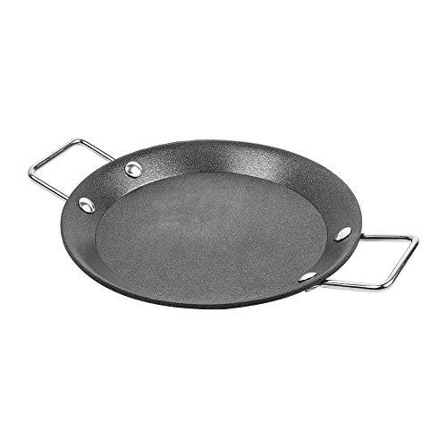 6 stuks - mini paella-pan Ø 12,8 x 1,2 cm zwart staal