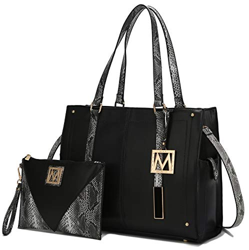 NOTICE: This bag is part of the MKF Collection by Mia K. And has no association with Mia Farrow: CHIC AND STYLISH 2-PC Set: The Tammie designer handbag shows off the women's purse trend at its best. Gold-tone embellishments, and M charm make it even ...