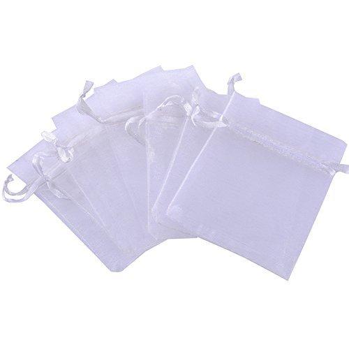 Rina's Garden Organza Favor Bags - 3'x4' - White Color - Pk of 120