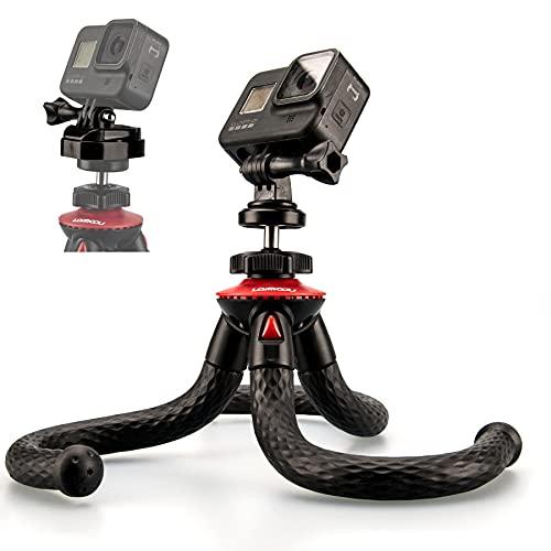Lammcou Trípode Flexible para la cámara Trípode Plegable de Gorrila Selfie con...
