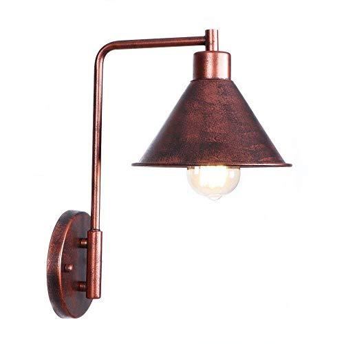 WHSS Lámpara de techo industrial de hierro forjado con jaulas de óxido para baño, bar, cafetería, club, mesilla de noche, hotel E27
