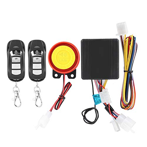 Fydun Motorcycle Alarm System Anti Theft Security System with 2 Remote Control 12V Universal