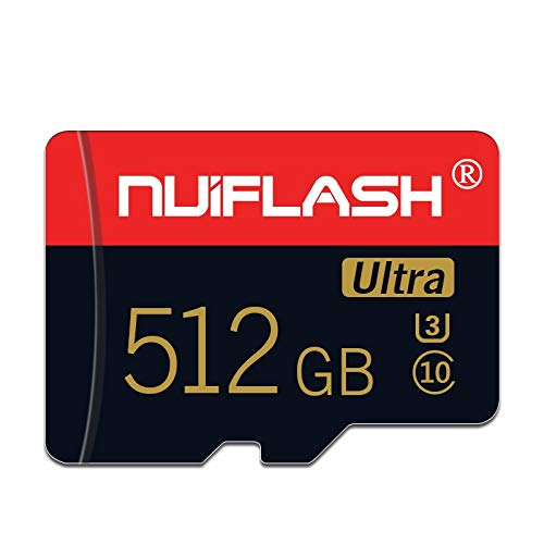 Micro sd Card 512gb Micro Memory Card High Speed Class 10 TF Card for Nintendo-Switch,Phone,Tablet and PCs with Adapter (512GB)