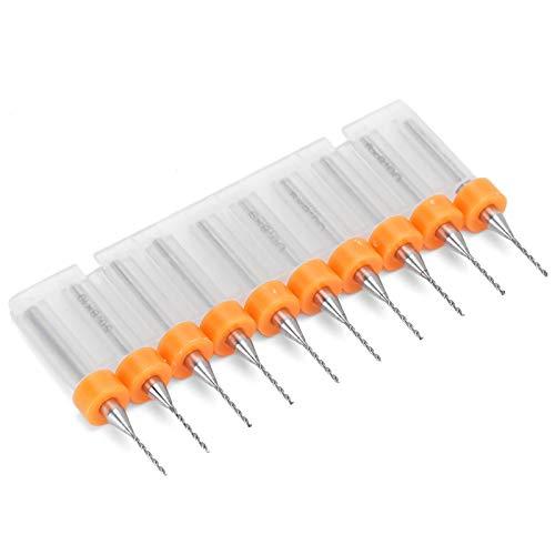 Afilado de alta resistencia a la flexión, 10 piezas, juego de mini brocas de 0,8 MM para reparación de relojes, carpintería, corte, talla