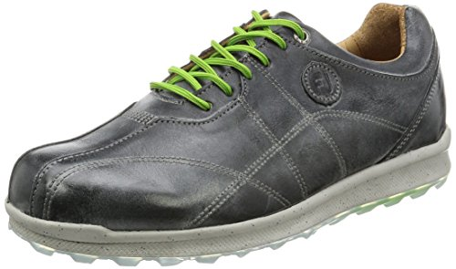 FootJoy Versaluxe Casual Spikeless Golf Shoes 2016 Closeout Charcoal Grey Wide 9