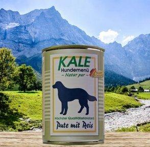 Kale Nassfutter Classic Pute mit Reis 400g (12 x 400g)