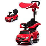 Little Brown Box 3 in 1 Licensed Mercedes Benz AMG Kids Ride on Push Car for Toddler,Car Stroller Baby Ride on Toys for 18 months to 3 Year Boy & Girl W/ Parent Handle, Armrest Guardrail, Music & Horn