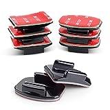 VKESEN Soporte adhesivo plano curvado para casco de fijación de adhesivo 3M para cámaras GoPro Hero 9, 8, 7, 6, 5 cámaras de acción