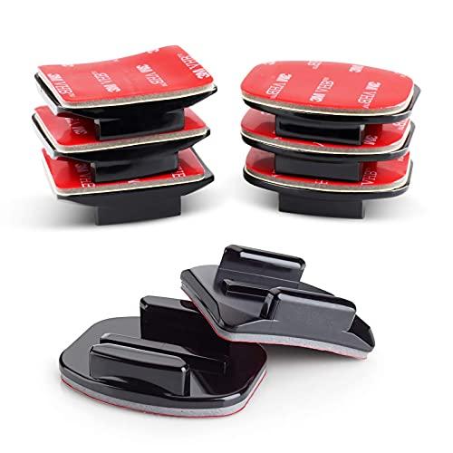 VKESEN Klebehalterung zubehör Flache Gebogene Klebepad Helm Halterung Helmbefestigung aus 3M Kleber für GoPro Hero 9, 8, 7, 6, 5 Action Kameras
