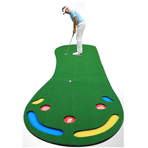 Puttingmatten Golf Putting Mat Indoor Golf 0.9 * 3M, Professional Home Golf Putting Praxis Matte, Golf Simulation Gras Trainingsmatte for Außenhof (Color : Green, Size : 90 * 300cm)