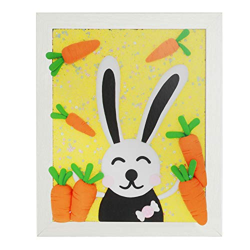 ideallife Handmade Molding Clay Photo Frame Painting Set, Creative Arts Crafts Set for Kids, Air Dry Modeling Clay Paiting Educational Set, Christmas Birthday Gift for Boys Girls (The Rain of Carrots)